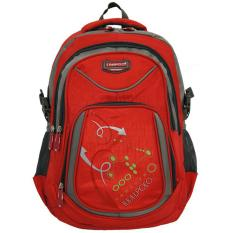 Jual Real Polo Tas Ransel Kasual Tas Pria Tas Wanita 6324 Bonus Bag Cover Merah A Original