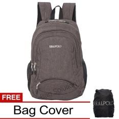 Real Polo Tas Ransel Laptop Kasual Tas Pria Tas Wanita Hcbf Backpack Up To 15 Inch Bonus Bag Cover Abu Terbaru