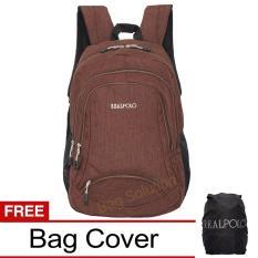 Beli Real Polo Tas Ransel Laptop Kasual Tas Pria Tas Wanita Hcbf Backpack Up To 15 Inch Bonus Bag Cover Coklat Di Dki Jakarta