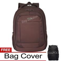 Iklan Real Polo Tas Ransel Laptop Tahan Air Tas Pria Tas Wanita 8315 Backpack Up To 15 Inch Bonus Bag Cover Coffee