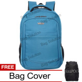 Harga Real Polo Tas Ransel Laptop Waterproof 8310 Biru Free Bag Cover Murah