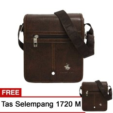 Harga Real Polo Tas Selempang Kulit Sintetis Set 2 Pcs 1720 Size L Size M Cokelat Asli Real Polo