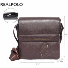 Harga Real Polo Tas Selempang Kulit Sintetis 9305 Coffee Fullset Murah