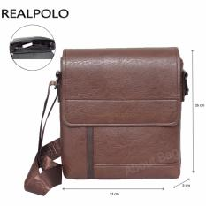 Review Toko Real Polo Tas Selempang Kulit Sintetis 9308 Coffee Online