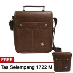 Jual Real Polo Tas Selempang Kulit Sintetis Set 2 Pcs 1722 Size L Size M Cokelat Branded Original