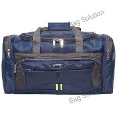 Real Polo Travel Bag - duffle bag Tas Pria Tas Wanita - Tas Pakaian Multi Fungsi (Tas Jinjing dan Tas Selempang) 7064 - Biru Tua