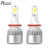 Jual Rectangle H11 72W 7600Lm Pair Of Car Led Headlight 6000K Auto Front Lamp Intl Online