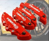 Dimana Beli Red 4Pcs Brembo Car Brake Caliper Front Rear 3D Brembo Brake Caliper Covers Case Red Ya010 Sz Oem