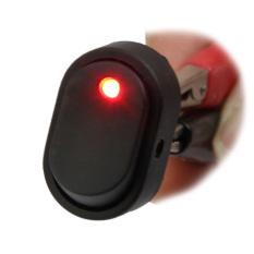 Lampu LED Biru Biru 12 V 30A 30Amp Mobil Perahu Goyang SPST Atur Saklar Otomatis Penjualan [Merah]- INTL
