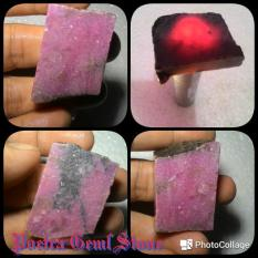 Red Borneo Kalimantan Rough Natural HQ Pink Tua Harga Bersaing