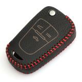 Merah Kulit Flip Case Kunci Penutup Dudukan Sepeda Untuk Chevrolet Cruze Aveo Berlayar Trax Malibu Captiva Dll Original