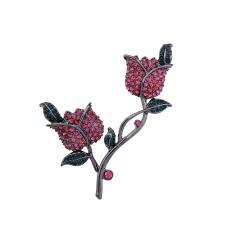 Merah Mawar Wanita Bros, Qingdao Eropa dan Amerika Mode Perhiasan Grosir Retro Paduan Aksesoris-Internasional