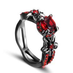 Harga Cincin Batu Merah Antik Hitam Kubik Zircon Pernikahan Pesta Hadiah Natal Anelli Donna Intl Online
