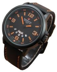 Diskon Reddington Jam Tangan Pria Tali Kulit Original R 3028 Black Leather Orange