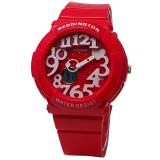 Jual Reddington Rd 117 W Dual Time Jam Tangan Wanita Strap Rubber Merah Di Jawa Barat