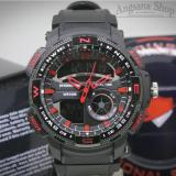 Reddington Rd1109 Jam Tangan Exclusive Pria Desaign Sporty Dinamis Fiture Dual Time Strap Rubber High Quality Water Resist Black Blue Reddington Diskon 30