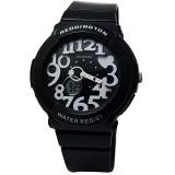 Reddington Rd117Hph Dual Time Jam Tangan Wanita Strap Rubber Hitam Putih Terbaru