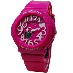 Reddington RD117PNG Dual Time Jam Tangan wanita - Strap Rubber (Pink)