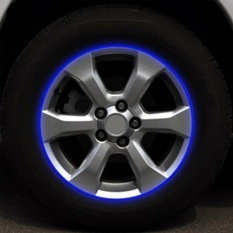 Reflektif Motor Mobil Rim Stripe Whiteeel Decal Tape Stiker 17 Strip Biru-Internasional