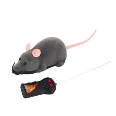 Remote Control Simulasi Plush Mouse Mice Kids Toys Gift For Cat Dog White Ear (abu-abu) -Intl