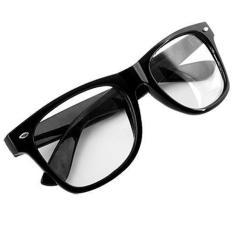 Retro Aviator Sunglasses Square Lens - Kacamata Wanita - Hitam - RAS 7064  CLEAR 83684e31b9