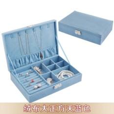 Retro Bergaya Eropa Kotak Kosmetik Ada Kunci Kotak Perhiasan Tiongkok Diskon