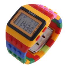 Jam Digital Unisex Multi Fungsi Pembina Olahraga H Retro Chic Asli