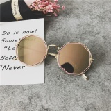Diskon Kacamata Hitam Logam Retro Kaca Mata Liar Terlihat Langsing