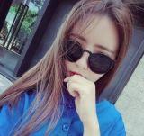 Beli Retro Perempuan Bintang Model Fashion Kacamata Hitam Kacamata Hitam Kacamata Bulat Kredit