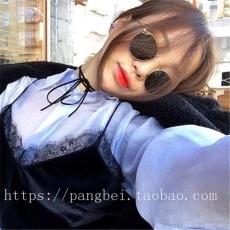 2018 model baru Korea Selatan merah Model Sama kacamata hitam Pria dan wanita model pasangan wajah