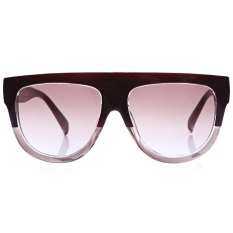 Harga Retro Rivet Shades Oversize Women Kitten Sunglasses Red Baru Murah