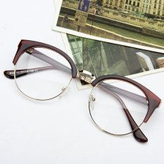 Beli Barang Gaya Retro Wanita Pria Nerd Kacamata Bening Lensa Kacamata Bingkai Logam Bulat Kacamata Online