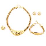 Beli Berlian Imitasi 18 Kb Berlapis Emas Perhiasan Cincin Gelang Anting Kalung Pengantin Set Cicilan