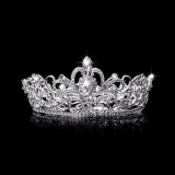 Iklan Rhinestone King Crown Bridal Tiara Diamante Wedding Pageant Headpiece Jewelry Intl