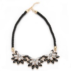 Cara Beli Tali Kalung Berlian Imitasi Bunga Matahari Paduan Hitam