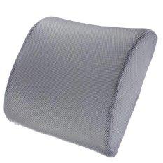 RHS Memory Foam Lumbar Back Support Cushion Bantal For Rumah Kantor Kursi Kursi Mobil (Abu-abu)-Intl