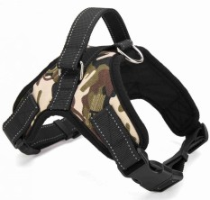 RHS Online Adjustable Pet Puppy Large Dog Harness For Animals Walk Out Hand Strap Belt Camouflage Size XL - intl