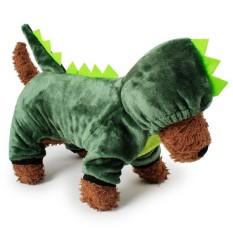 RHS Online Dinosaurus Hoodie Anjing Peliharaan Kostum Pakaian Peliharaan Mantel Sweter Ukuran S-Internasional