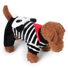 RHS Online Panda Hoodie Anjing Peliharaan Kostum Pakaian Peliharaan Mantel Sweter Ukuran XS-Internasional