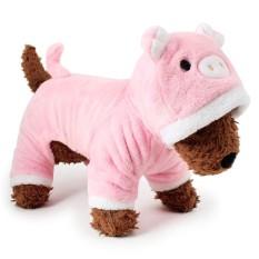 RHS Online Babi Hoodie Anjing Peliharaan Kostum Pakaian Peliharaan Mantel Sweter Ukuran S-Internasional