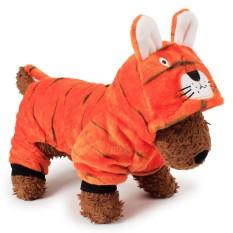 RHS Online Harimau Hoodie Anjing Peliharaan Kostum Pakaian Peliharaan Mantel Sweter Ukuran S-Internasional