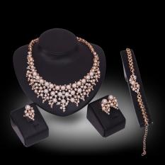 Tips Beli Kaya Panjang Berlapis Emas Kristal Berlian Imitasi Kalung And Anting Set Perhiasan