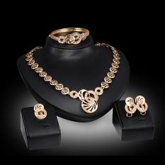 Beli Kaya Panjang Berlapis Emas Berlian Imitasi Kalung And Anting Set Perhiasan Tiongkok