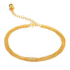 Spesifikasi Richapex Foot Chain 18 K Berlapis Emas Gelang Kaki Intl Baru