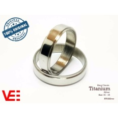 Ring Cincin Couple / Tunangan / Nikah / Pasangan / Single Titanium - Silver - RT02Silver
