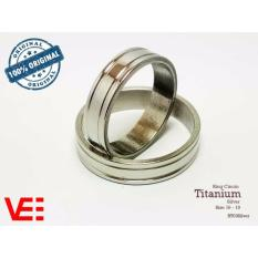 Ring Cincin Couple / Tunangan / Nikah / Pasangan / Single Titanium - Silver - RT03Silver
