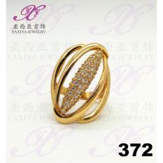 Ring (Cincin Lapis Emas) Gem Elizabeth Perhiasan Imitasi Yaxiya 372