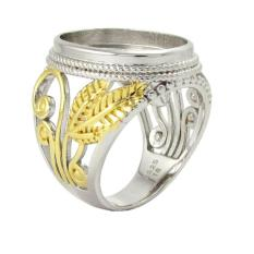 Ring Emban Cincin Perak Hongkong Kadar 925 (150537) - Agshnw