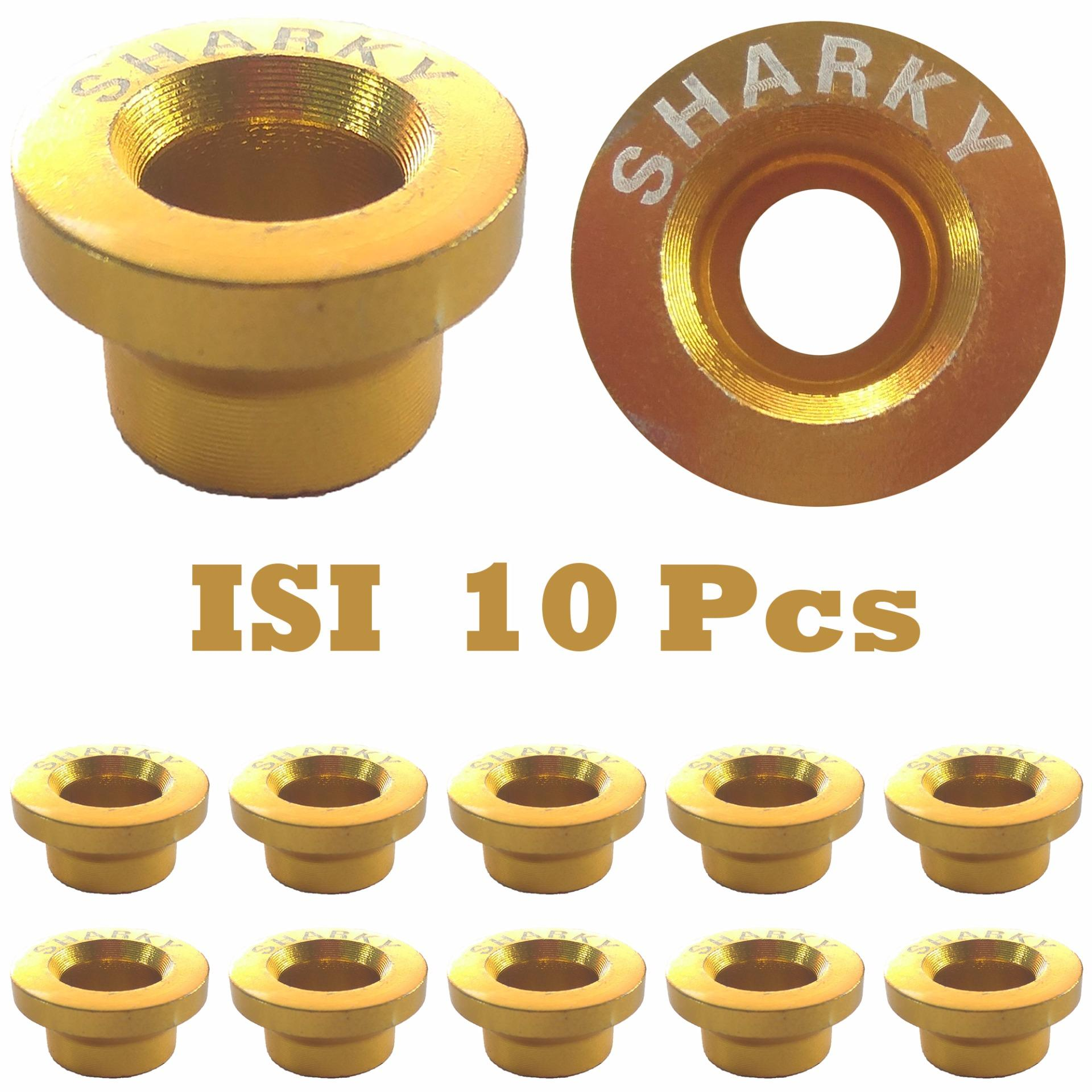 Ring Monel Sharky Isi 10 Pcs Bahan Logam Aluminium - Variasi Motor - Gold By Virgo Shop.