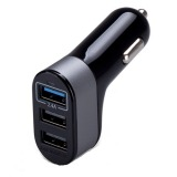 Beli Ripple Usb Car Charger 3 Port Usb 5 1A Hitam Ripple Murah
